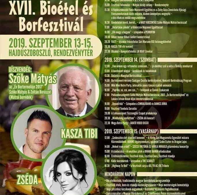 Hajdúszoboszló Bioétel és Borfesztivál 2019
